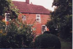 Jane's house from the garden